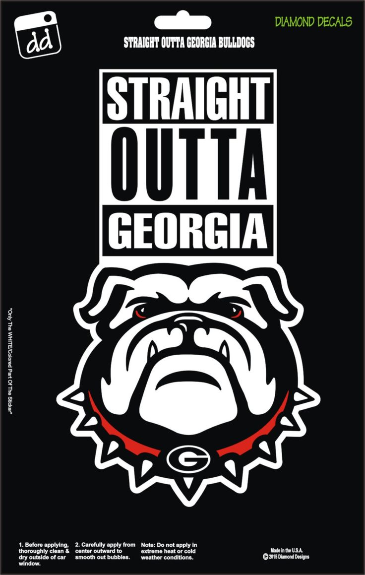 Straight Outta Georgia Bulldogs College NCAA Football Team Decal Sticker Car Truck Laptop SUV Window by DiamondDecalz on Ebay
