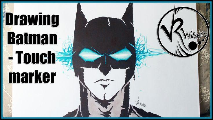 Drawing Batman - Touch marker