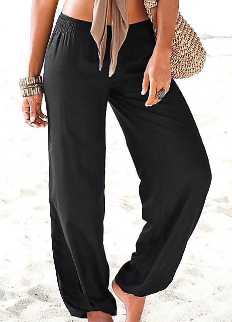 Black Beach Pants by LASCANA