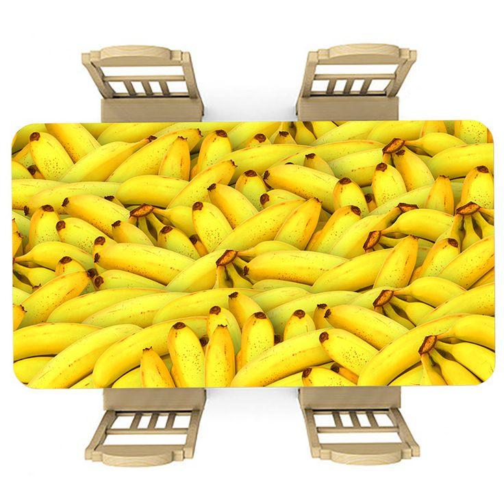 Tafelsticker Bananen | Maak je tafel persoonlijk met een fraaie sticker. De stickers zijn zowel mat als glanzend verkrijgbaar. Geschikt voor binnen EN buiten! #tafel #sticker #tafelsticker #uniek #persoonlijk #interieur #huisdecoratie #diy #persoonlijk #geel #bananen #banaan #fruit #gezond #lekker #lekkernij #voedsel #eten