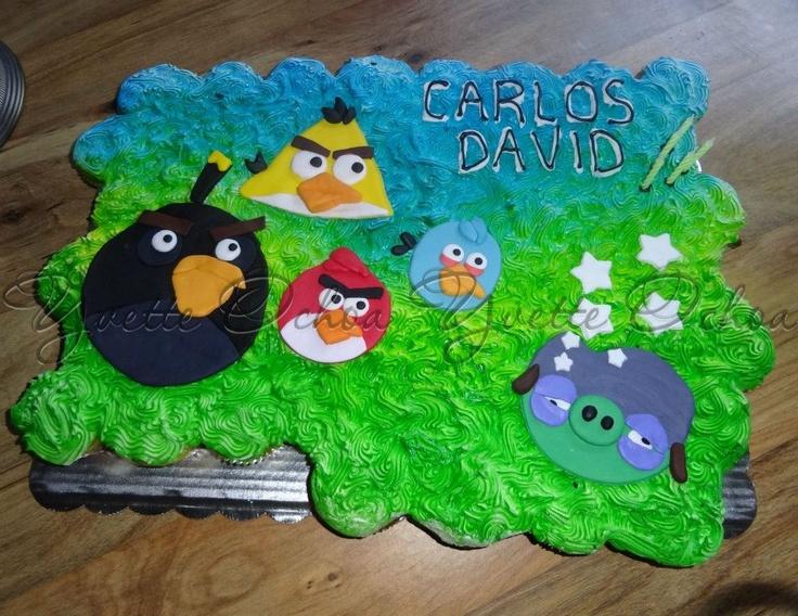 Pastel de cumpleaños en Mexicali / Angry birds cake