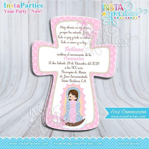 Invitaciones Primera Comunion Imprimibles de la por InstaParties