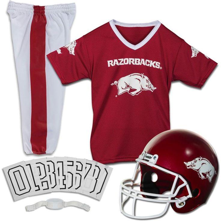 Franklin Arkansas Razorbacks Deluxe Uniform Set, Kids Unisex, Size: Medium, Team