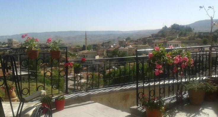 #CaveArtHotel'in terasından kasabanın panaromik manzarasnı; vadiler, kiliseler ve peri bacalarını seyredebilirsiniz. You can see the town's panaromic view; valleys, churches and fairy chimneys from #CaveArtHotel's terrace. www.cavearthotel.net #Nevşehir #Cappadocia #Ürgüp #Cave #Anatoilia #summer #chill #vacation #tourist #happy #hotel #travel