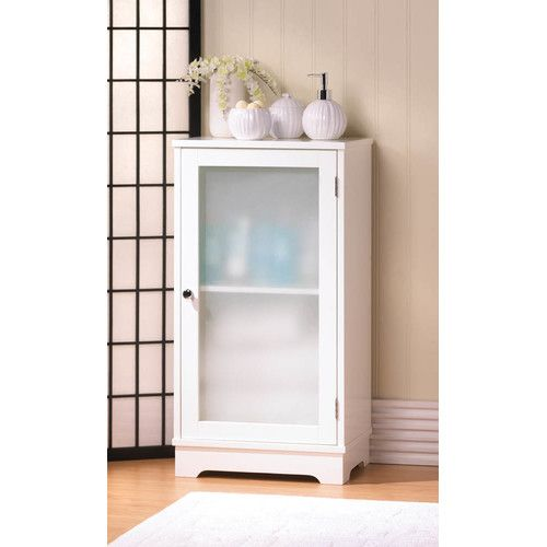 Demur Storage, Frosted With Styleu0026 This Floor Cabinet Features Wood  Construction With A Crisp White Finish, And The Hinged Door Holds Frosted  Glass That ...