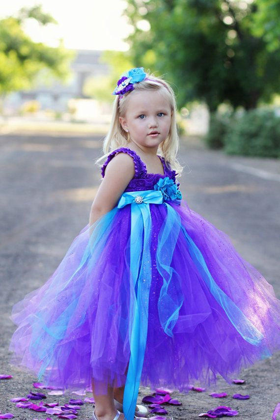 Hey, I found this really awesome Etsy listing at https://www.etsy.com/listing/189011499/peacock-purple-and-turquoise-flower-girl