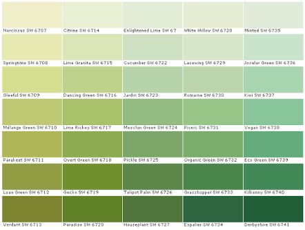 Image result for green wall paint swatches