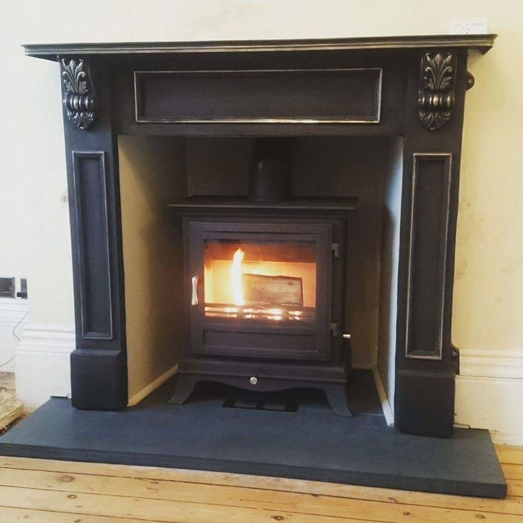 Chesney Beaumont 8kw Multi Fuel Stove With Solid Slate Fireplace Hearth And Cast Hearths