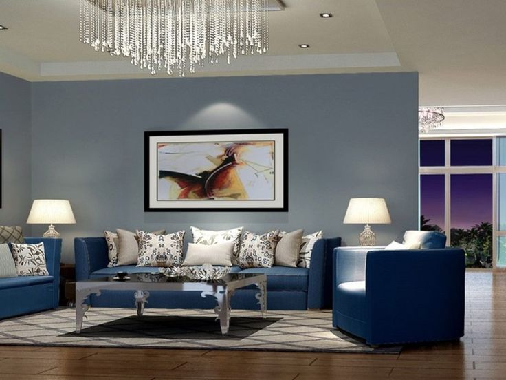 Modern Blue Sofa To Make Living Room Look Elegant ...