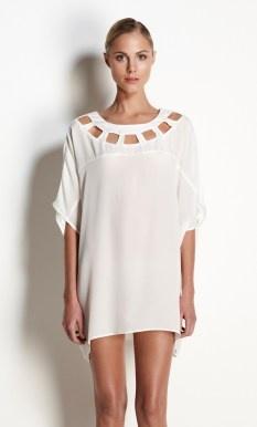 Talulah shining petals white tunic top dress $220 | threadsandstyle.com.au