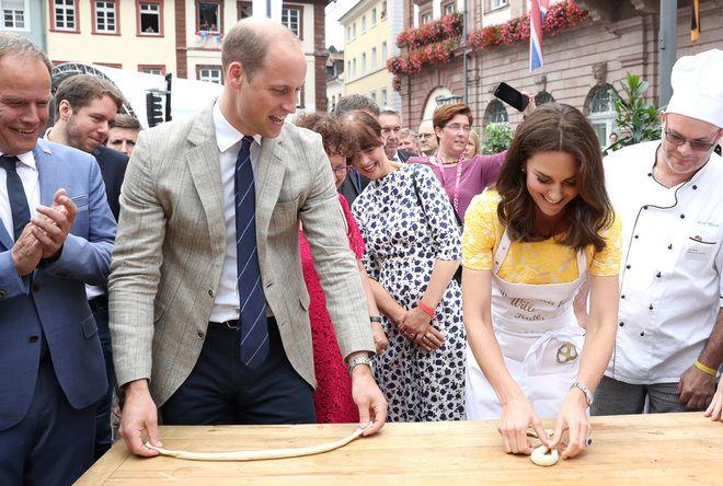 Кейт Миддлтон и принц Уильям на ярмарке в Хайдельберге