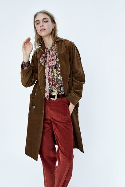 32bedda621 Double-breasted corduroy coat | NC Style | Outerwear women, Corduroy ...