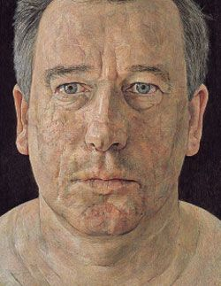 Self-portrait.. Antony Williams.... egg tempera on panel