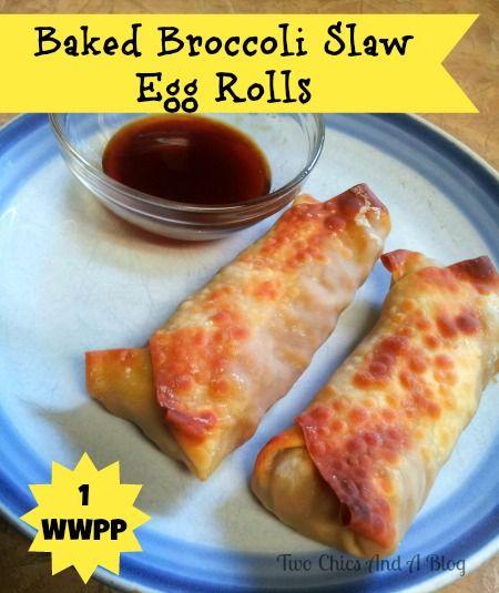 Baked Broccoli Slaw Egg Rolls on MyRecipeMagic.com
