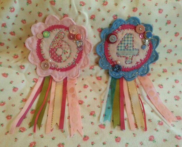 More birthday rosettes