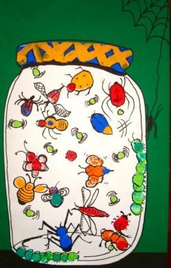 I think this would be great for early elementary aged kids! I think it would make a great class project where each child could use their finger print to make their own bug, showing that each bug is different just like their finger prints! it would also be a great tie in to science