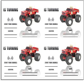 Half-a-Hundred Acre Wood: Monster Truck Party {Free Printables}
