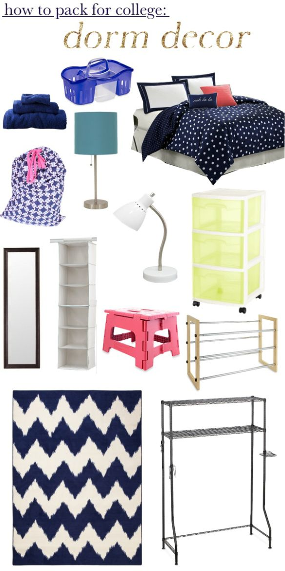 How to pack for college /// covers everything! great post!