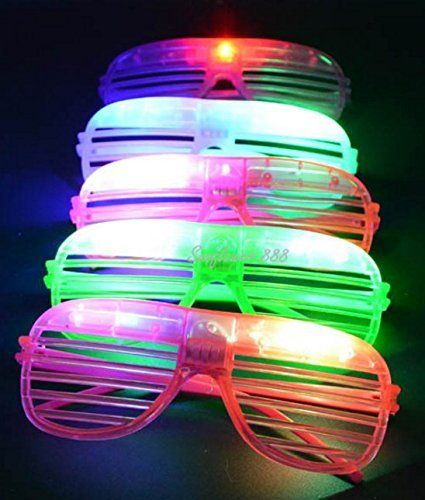 12 PACK LED Sunglasses Glow Glasses LED Flashing Futuristic Rave Glowing Shades Rave Party * Continue to the product at the image link.Note:It is affiliate link to Amazon.