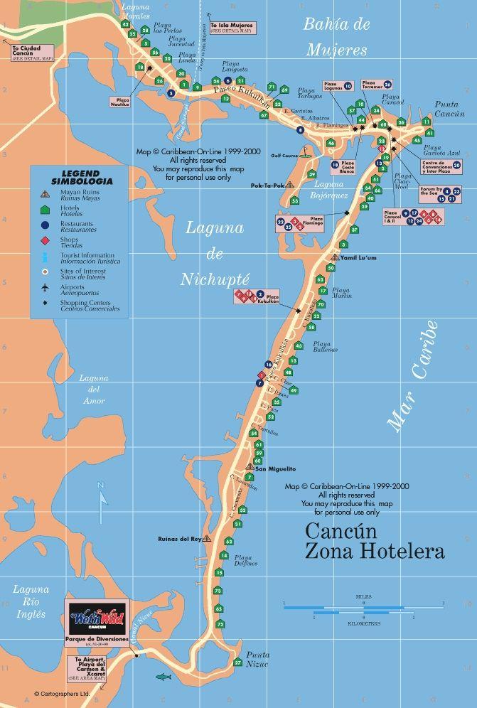Cancun Hotel Zone Map Maps Pinterest Cancun And Cancun Mexico - Cancun hotel zone map