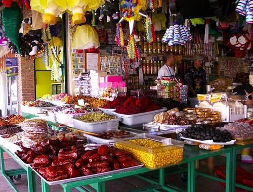 Street market in Rosarito, Mexico