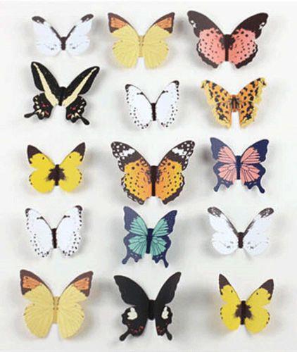 15-X-стикеры-наклейки Виниловые-Home-Decor-комнатные украшения-бабочка-наклейка-Арт-Дизайн