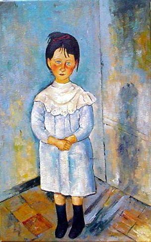 Modigliani - Filette en bleu