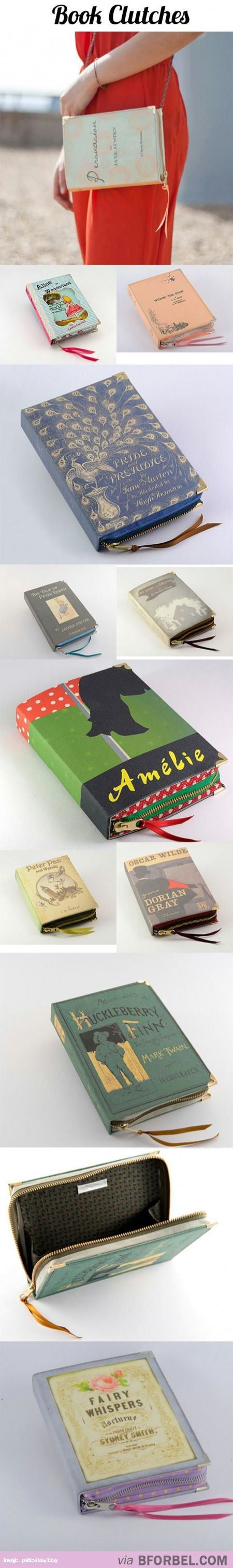 Clutches Made From Book Covers… Will Sell Kidney For One.