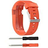 GBSELL Replacement Silicone Band Rubber Strap Wristband Bracelet For Fitbit Charge HR Small(Orange) - http://www.painlessdiet.com/gbsell-replacement-silicone-band-rubber-strap-wristband-bracelet-for-fitbit-charge-hr-smallorange/