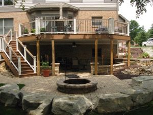 17 best images about new walkout basement patio and deck for Walkout basement patio