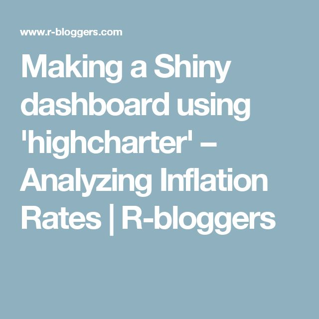 Making a Shiny dashboard using 'highcharter' – Analyzing Inflation Rates | R-bloggers