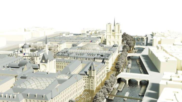 Le quai sud de l'île sera piétonnier du Palais de Justice à la cathédrale Notre-Dame.