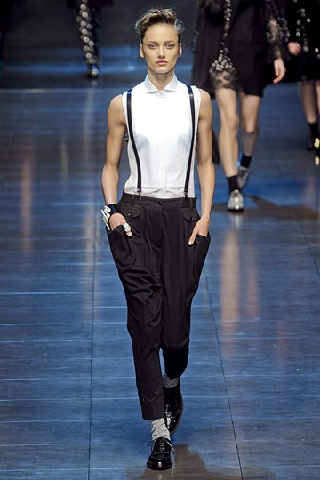 D & G   fall trends for women - borrowed from the boys