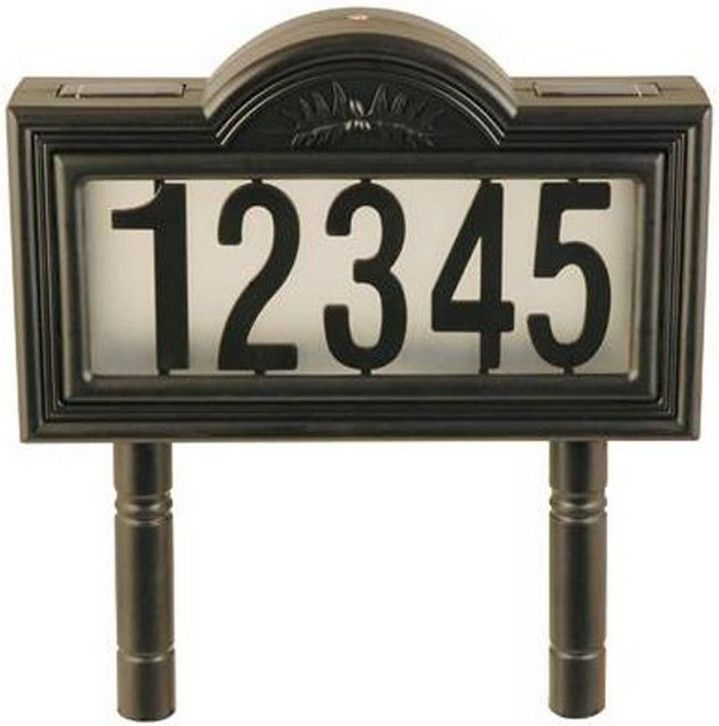 Lighted Address Sign Part - 41: Illuminated Address Signs For Homes