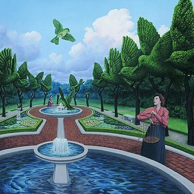 Rob Gonsalves - Canadian contempoary artist -  Magic Realism Illusions | Mighty Optical Illusions