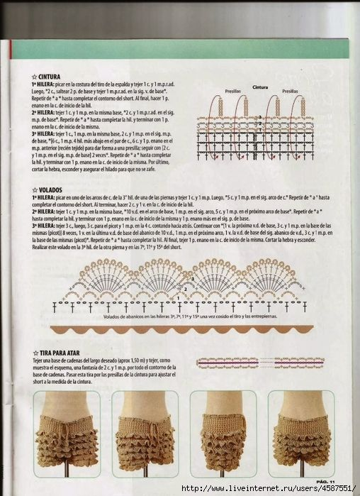 Mejores 13 imágenes de Shorts crochet en Pinterest   Ropas de ...