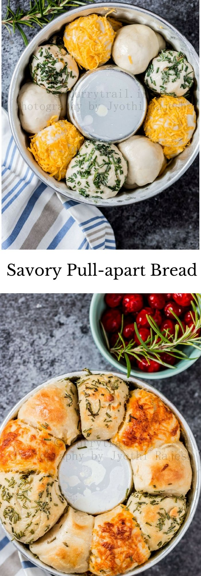 Savory Pull-apart Bread – Christmas Special Bread