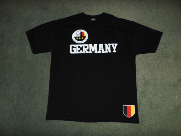 Men's Black, White GERMANY DEUTSCHER FUSSBALLVERBAND Soccer Shirt, Size XL, GUC! #SIMPLYFORSPORTS #TEAMGERMANYDEUTSCHLAND