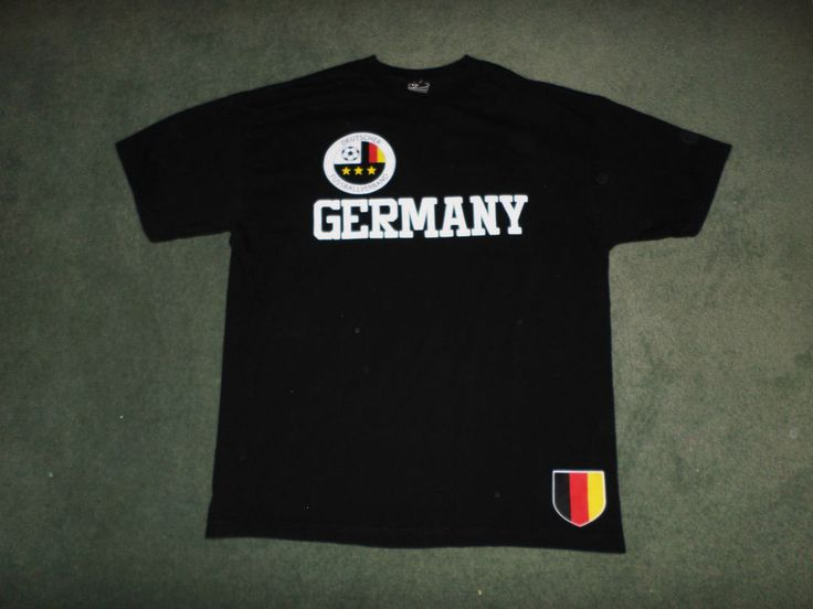 Men's Black, White GERMANY DEUTSCHER FUSSBALLVERBAND Soccer Shirt, Size XL, GUC! #SIMPLYFORSPORTS #TEAMGERMANYDEUTSCHLAND