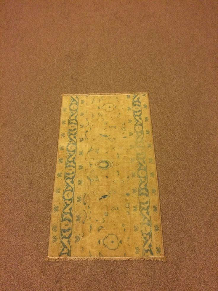 1.9x3.1 Feet Turquoise And Beige Doormat Door Mat Welcome Mat Beige Vintage Carpet Beige Rug Handmade Carpet Handmade Rug Carpet In Handmade Code:V580. It is %100 handmade carpet runner.All colours are natural dyed. Size:1.9x3.1 feet 53x93 cm Material:wool on cotton Code:V580 Fast Worldwide Shipment in 1-3 business days after the order and it may take an additional 3-5 days for delivery. All items are shipped by Fedex and Ups.Please note that light effect, monitor's brightness, contrast…