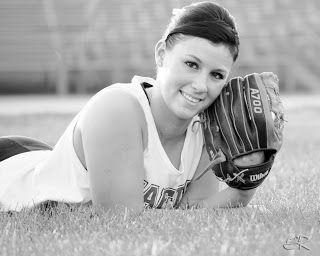 sports, softball, senior photos