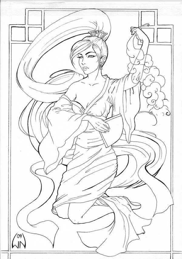 Mulan By Wictorian Artdeviantart On DeviantArt Coloring SheetsColoring BooksAdult ColoringColouringDisney Princess