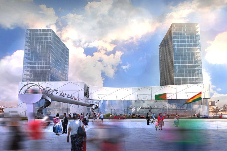 encargo vista propuesta fachada anteproyecto centro comercial El Alto.