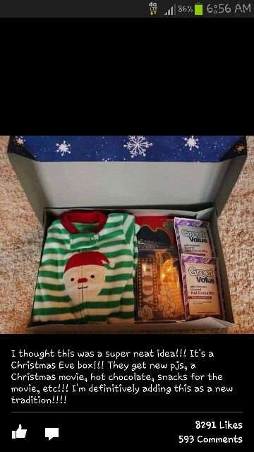 Christmas Eve box for kids .. thinks this is my new tradition