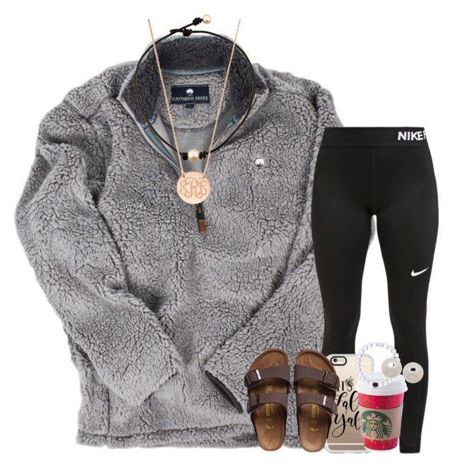 """""""relaxed set"""" by ellaswiftie13 ❤ liked on Polyvore featuring NIKE, Casetify, Birkenstock, BaubleBar and Honora"""