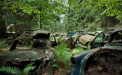 Cementerio de coches abandonados de Chatillon