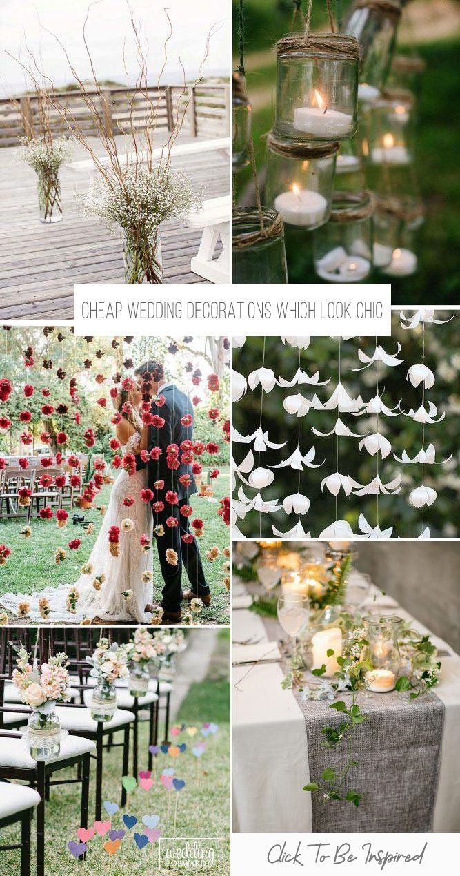 39 Cheap Wedding Decorations Which Look Chic Wedding Forward Affordable Wedding Decorations Cheap Wedding Decorations Wedding Floral Centerpieces