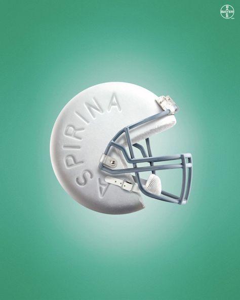 Aspirina / 60 Ejemplos de publicidad creativa e inteligente