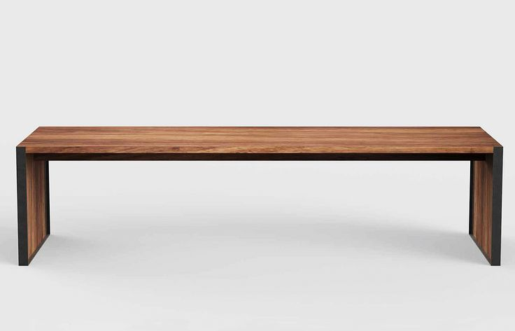 Metal and wooden benches can be ordered up to several meters long.