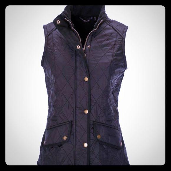 Barbour black Ladies Polarquilt Cavalry Gilet sz 8 Ladies Barbour Black Cavalry Polarquilt Gilet vest! Barbour Jackets & Coats